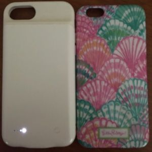 Lux charging case & Lilly Pulitzer case(6s)
